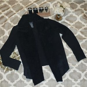 Chelsea & Theodore Faux Fur/Suede Sweater Jacket